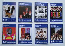 Set of 8 BEATLES RARITIES trade cards - BLUE 'Classic Bootlegs' series - gift