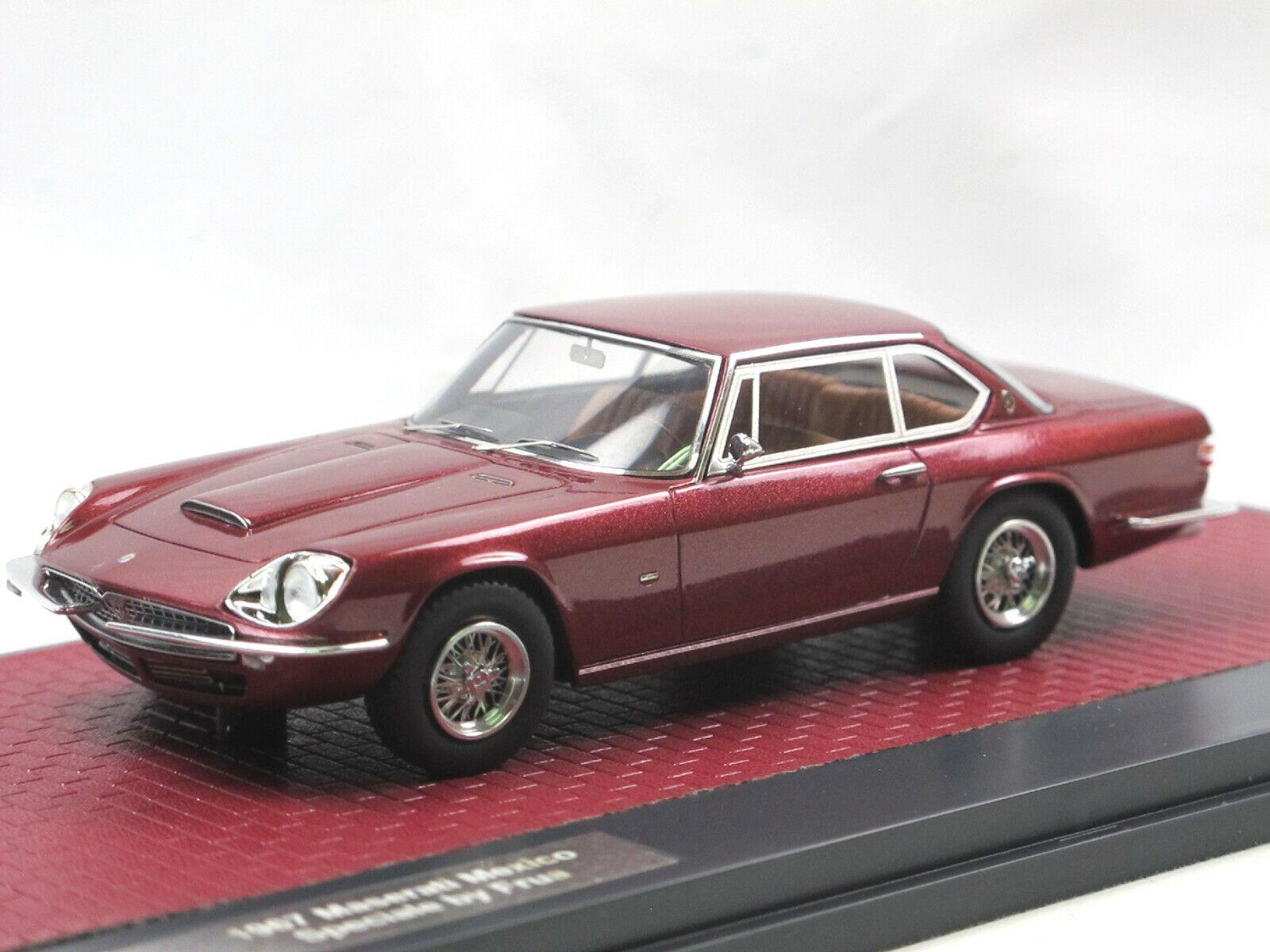 MATRIX SCALE MODELS 1967 Maserati Mexico SPECIALE by FRUA rouge Metallic 1 43