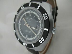 NOS NEW VINTAGE DIVERS SICURA MENS SWISS MADE WATCH 1960'S