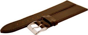 HEKTOR-Herren-Uhrenband-Pferdeleder-rotbraun-Horween-shell-cordovan-oxblood-20mm