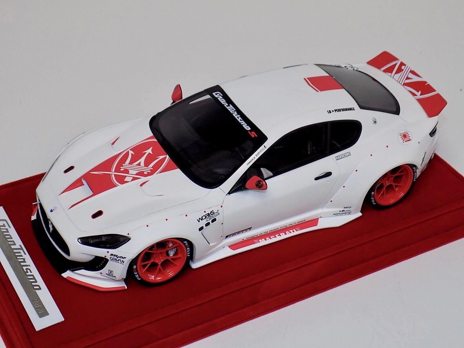 1 18 Modelos Maserati GranTurismo Liberty AB Caminar biancao Japón Edición Alcantara
