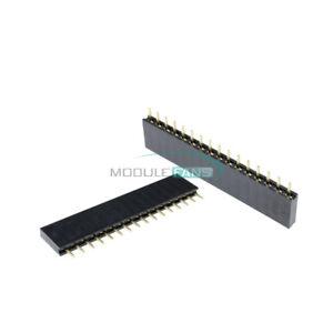 100PCS-16-Pin-2-54mm-Pitch-1X16P-Single-Row-Female-Straight-Header-Strip