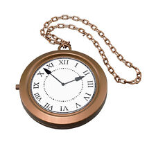BIG POCKET WATCH, WHITE RABBIT, ALICE IN WONDERLAND, TOY CLOCK FANCY DRESS 8""