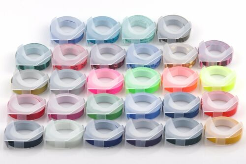 Dymo MOTEX Label Maker Embossing Refill Tape 9mm X 3M Multi Color Free Shipping