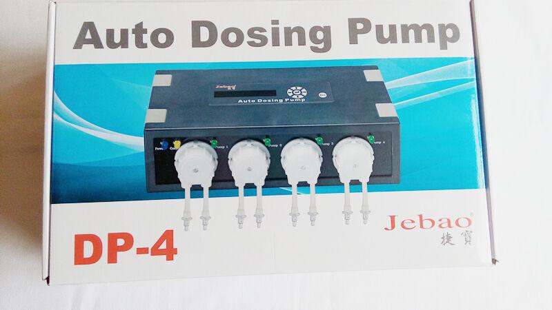 Bomba de dosificación Jebao AUTO DP-4 4 cabezales de bomba canal para acuario de