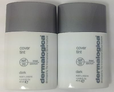 2X Dermalogica Cover Tint Dark 1.3 oz / 40 mL each, NWOB  BEST BY 05/2015.