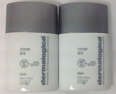 2X Dermalogica Cover Tint Dark 1.3 oz / 40 mL each, NWOB  BEST BY 05/2015.