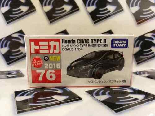 TOMY TOMICA 76 HONDA CIVIC TYPE R BLACK DIE-CAST METAL