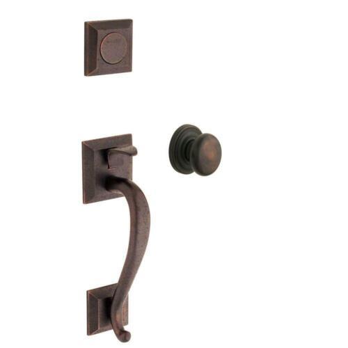 Baldwin Madison Distressed Venetian Bronze Full Dummy Door Handleset