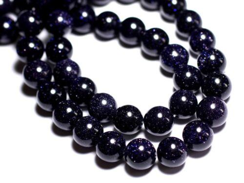 20pc Perles Pierre de Soleil de Synthèse Bleue Galaxy Boules 3-4mm  4558550027