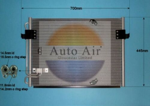 Fit with BMW 840 E31 Condenser air conditioning 16-9664 4L