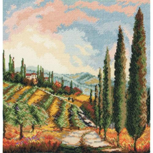 Anchor Maia Cross Stitch Kit Valley Vineyard