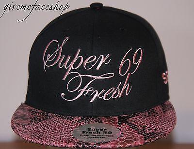 EntrüCkung Super Fresh Snakeskin Snapback Black Hip Flat Peak Fitted Hats Bling/baseball Kleidung & Accessoires Herren-accessoires
