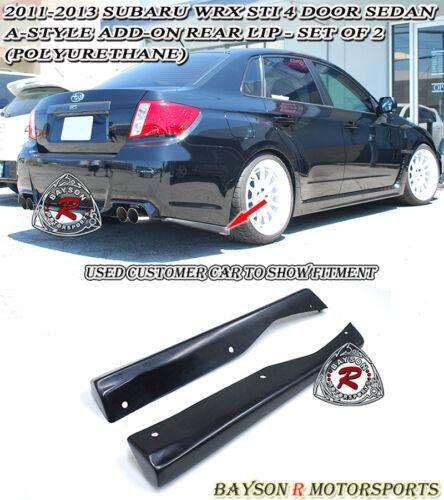Urethane Fits 11-14 Subaru Impreza WRX STi 4dr A-Style Rear Lip Aprons