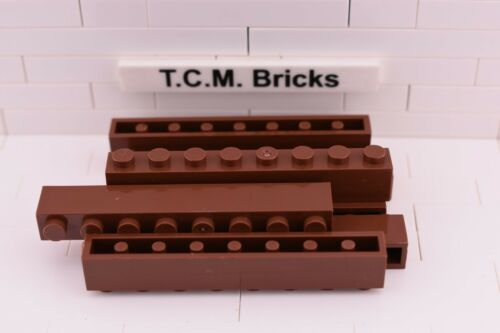 TCM Compatible Bricks Reddish Brown Brick 1 x 8 - QTY: 25 pieces
