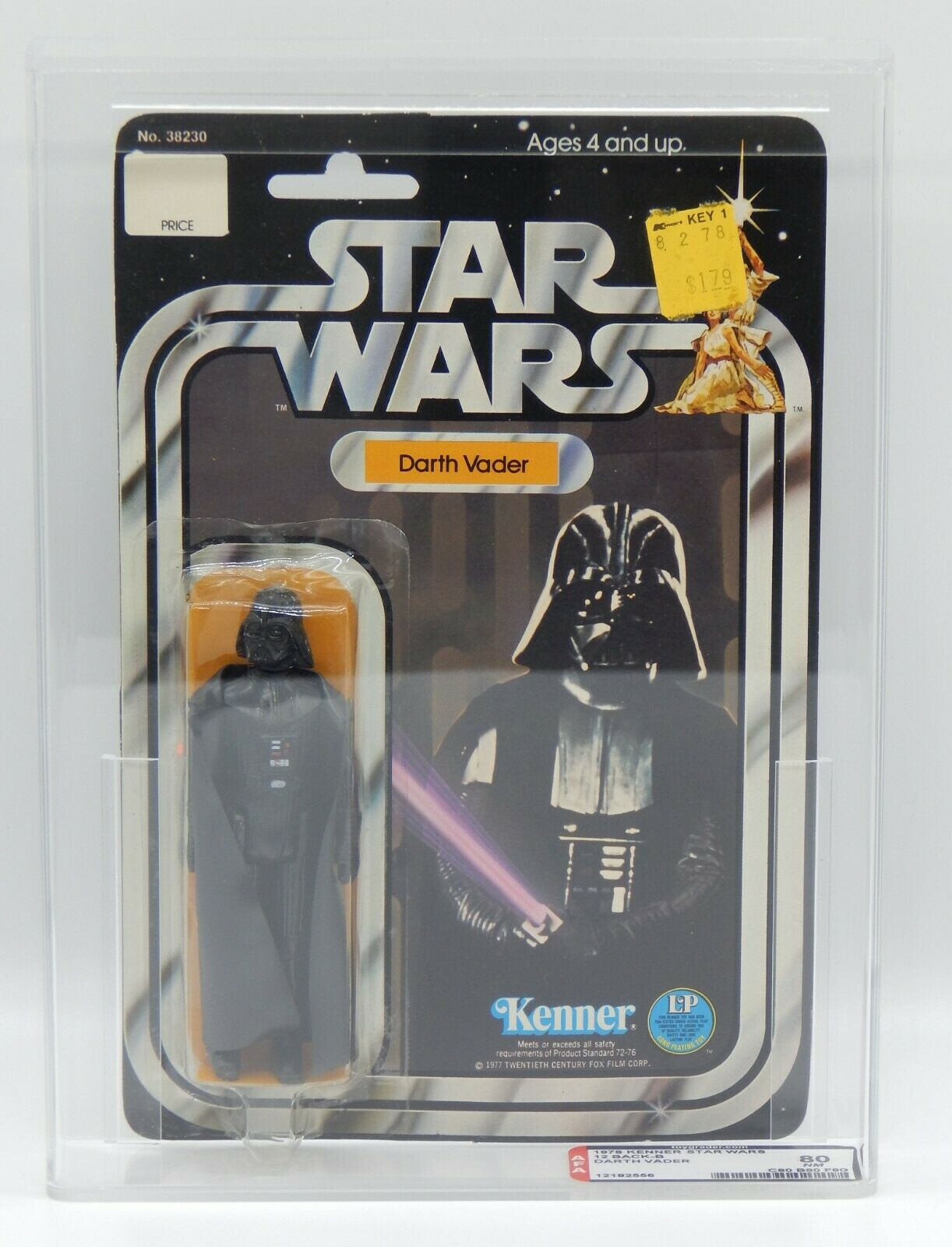 AFA 80 STAR WARS DARTH VADER Action Figure MOC 1977 KENNER 12 premiers dos B Rare