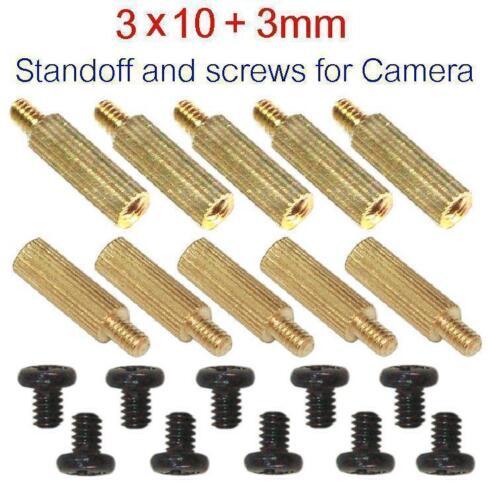 10pk 3x10+3 Standoff and Screws for Cameras.