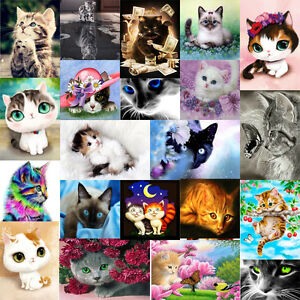 5D-DIY-Diamond-Painting-Animals-Cat-Embroidery-Cross-Crafts-Stitch-Home-Decro