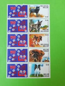 BELGIUM BELGIQUE 2002 3064/68 ** BELGISCHE HONDEN / CHIENS BELGES  5 x 0.42 € //