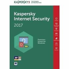 Kaspersky Internet Security 2017 - 1 User 1 Year Latest Version Antivirus**