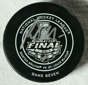 Pat-Maroon-St-Louis-Blues-Stanley-Cup-Final-Game-7-Puck-Autographed-Patrick-NHL