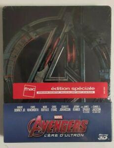 Blu-Ray-Steelbook-Avengers-L-Ere-D-039-Ultron-Neuf-Sous-Blister-Edition-FNAC