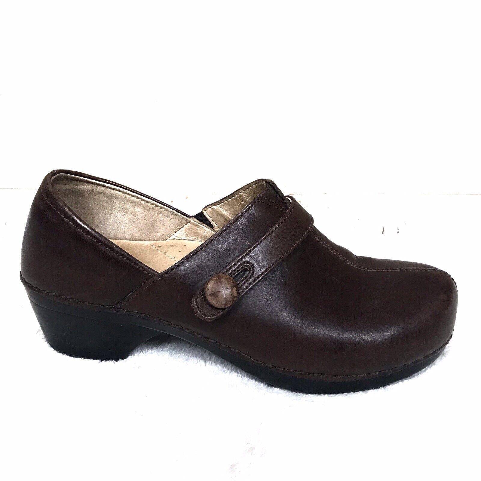 Dansko damen braun Solstice Leather Leather Leather Clogs Nursing Comfort 40 10 7edf9f