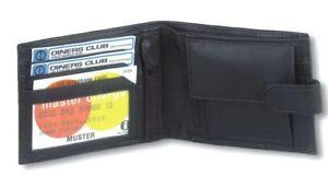 Kleidung & Accessoires Unparteiisch 1193 Gents Mens Sheep Nappa Leather Wallet Note Case Purse Credit Cards Holder Herren-accessoires