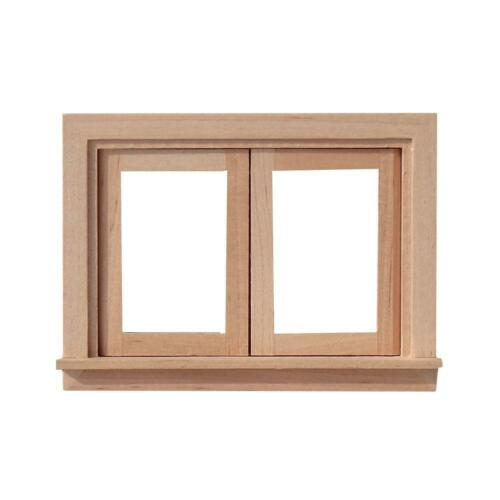 Dollhouse Furniture Miniature Casement Working Wooden Window Houseworks 1:12