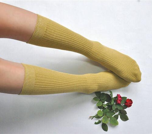 Womens Tencel Silk Blend High Cut Long Boot Socks Fitted Shoe Size 22-24