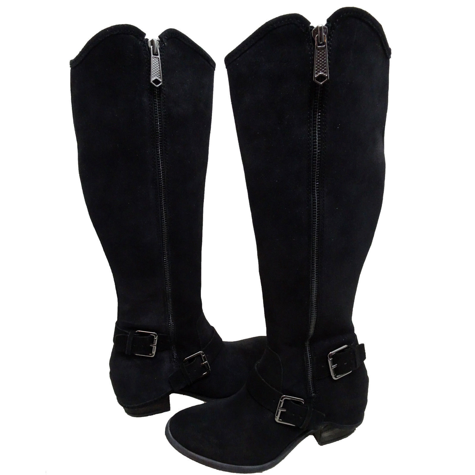Donald Pliner Womens Dela Zipper Buckle Strap Knee High Casual Riding Boots