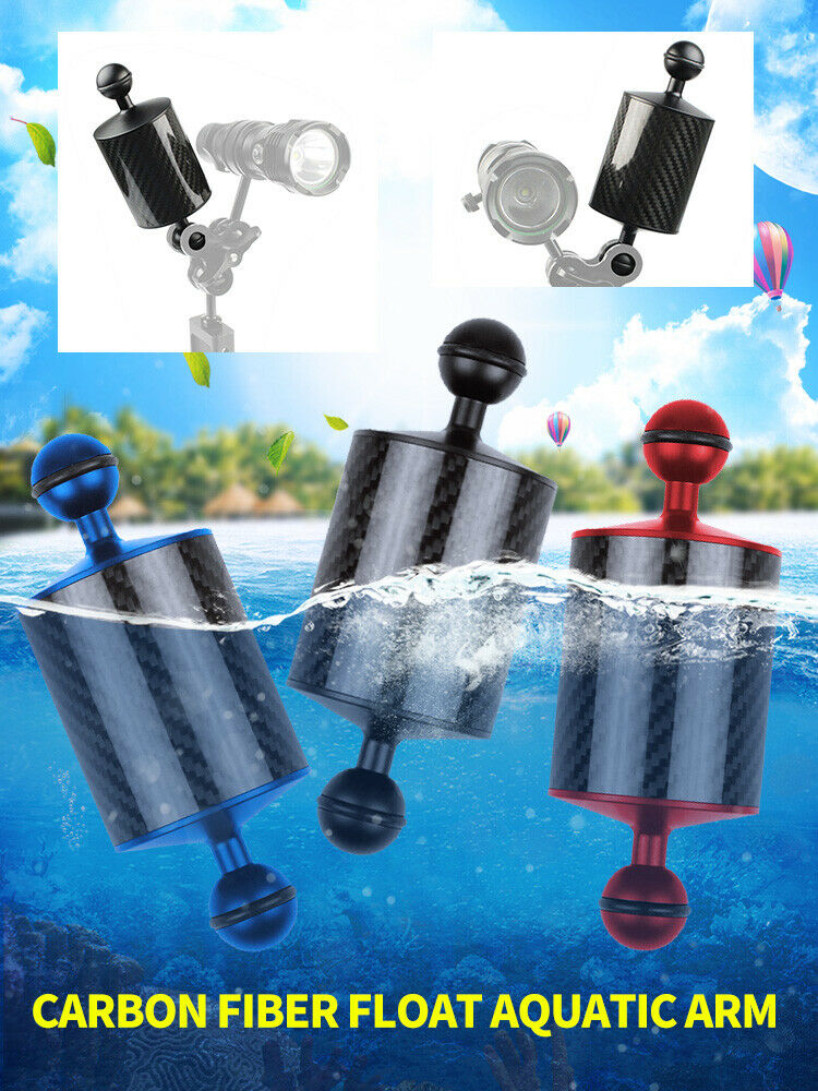 10 inch BGNING Underwater Float Arm Carbon Fiber Floating Dual Ball Arm Diving Buoyancy Arm D80mm 5//8//10inch for Diving Camera Underwater Diving Tray