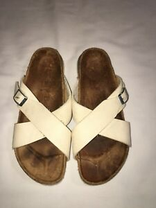 brand new c33fc 572d8 Details about Betula by Birkenstock 265 Women's Sandals Slip On'S Slides  Ivory Size 41 L10 7.5