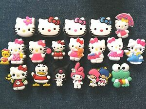 New-HELLO-KITTY-Sanrio-Girls-039-Shoe-Charms-Fit-Jibbitz