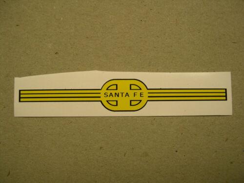 Reproduction Nose Sticker for American Flyer Santa Fe Alco Diesel Loco