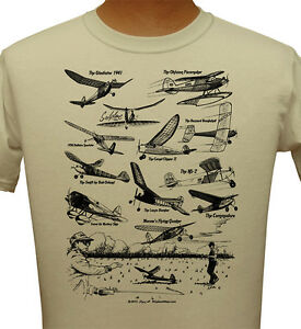 Sand-color-T-shirt-with-Antique-Model-Airplanes-from-1930s-and-1940s-Adult
