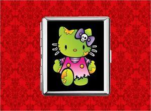 HELLO-ZOMBIE-KITTY-METAL-WALLET-CARD-CIGARETTE-ID-IPOD-CASE