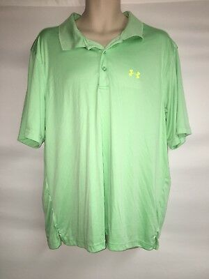 2019 Latest Design Under Armour Polo Shirt Mens Large Mint Loose Fit Heat Gear Clothing, Shoes & Accessories Polos
