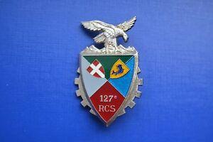127e-Regiment-de-Commandement-et-Soutien-pucelle-insigne-militaire-RCS-armee