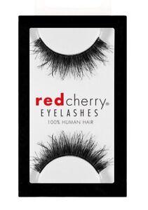 Red-Cherry-BERKELEY-wispy-605-falsche-schwarz-Echthaar-Wimpern-strip-lash