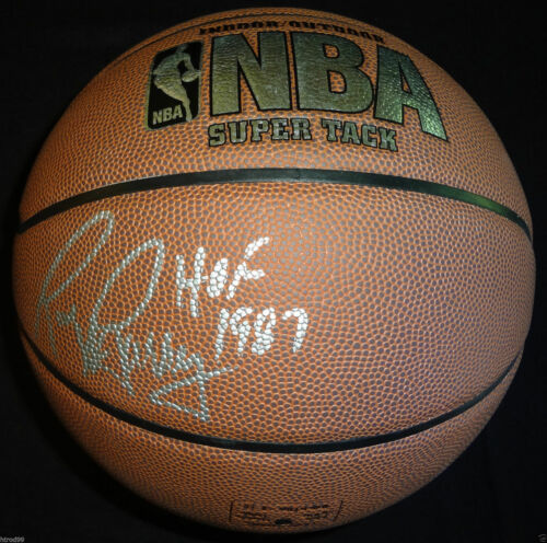 RICK BARRY SIGNED NBA BASKETBALL HOF 1987 INSCR GOLDEN STATE WARRIORS COA J1