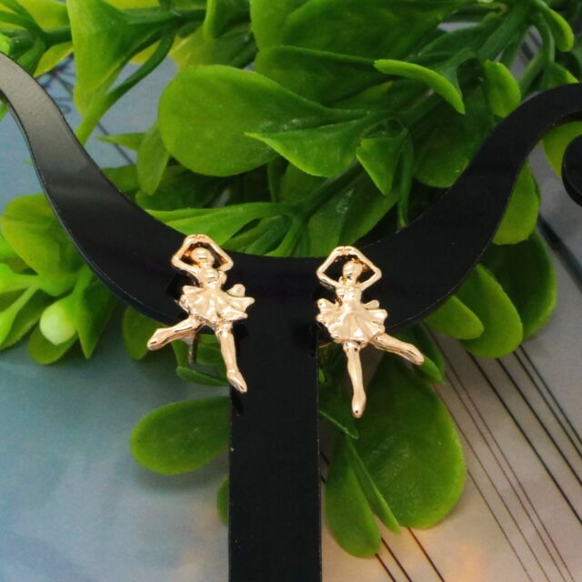 Ballet Dancer Cute Studs Rose Gold New Women Fashion Jewelry Stud Earrings