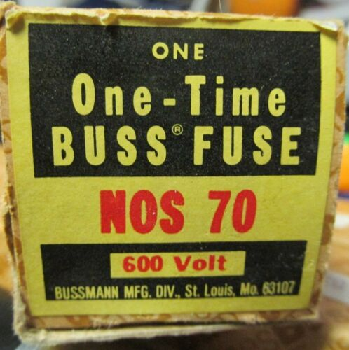 NEW BUSS NOS 70 ONETIME FUSE . VE24