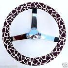 Handmade Steering Wheel Covers Giraffe Print