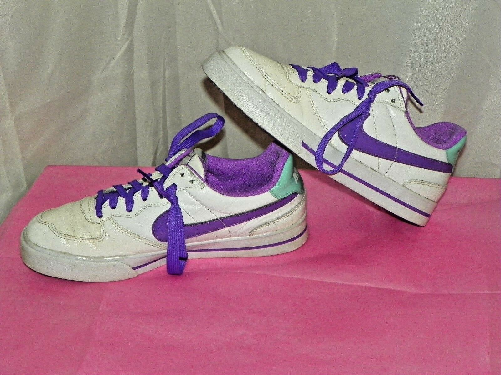 NIKE WOMENS' SWEET ACE 83 ATHLETIC SHOES SIZE 8.5 WHITE/PURPLE/GREEN 407992-107 Cheap and beautiful fashion
