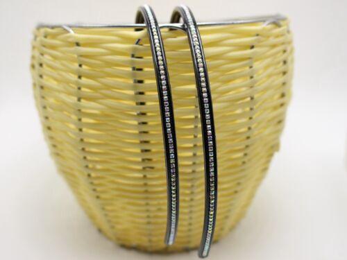 2 Pcs Crystal Rhinestone Slim Thin Headband Hair Band Headpiece 6mm Color Choice