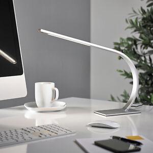 led schreibtischlampe leuchte b rolampe nachttisch leselampe silber t94 2 b ebay. Black Bedroom Furniture Sets. Home Design Ideas