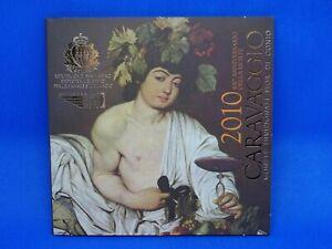 COFFRET BU DES 8 PIECES + 1 PIECE ARGENT 5 EURO DE SAN MARINO SAINT MARIN 2010