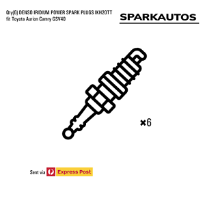 Qty-6-DENSO-IRIDIUM-POWER-SPARK-PLUGS-IKH20TT-fit-Toyota-Aurion-Camry-GSV40
