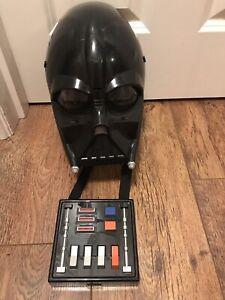 2004 Hasbro Star Wars Darth Vader Voice Changer Helmet Mask Cosplay Sounds Emballage Fort